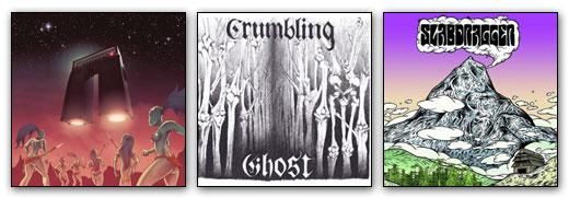 Article Image - Astrohenge / Crumbling Ghost / Slabdragger artwork