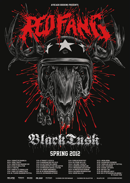 Red Fang / Black Tusk - Euro Tour 2012 Flyer