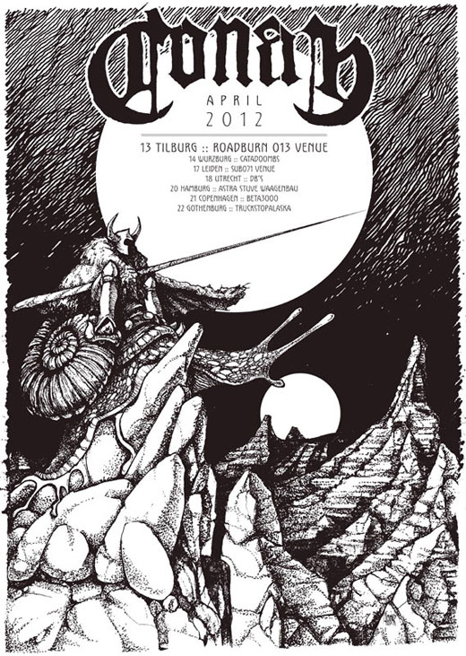 Conan – Euro Tour 2012 Flyer