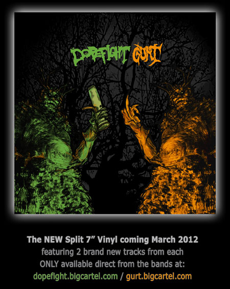 "Gurt / Dopefight Split 7"" Flyer"