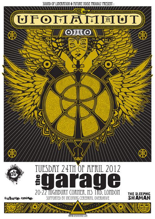 Ufomammut - London 24/04/2012 Flyer