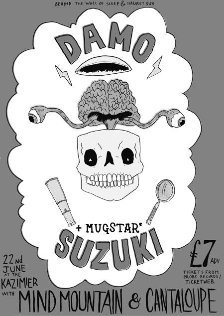 Damo Suzuki & Mugstar, Liverpool - Flyer