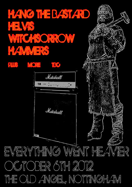 Everything Went Heavier 2012 flyer