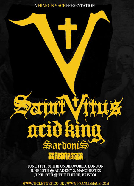 Saint Vitus - UK Tour 2012