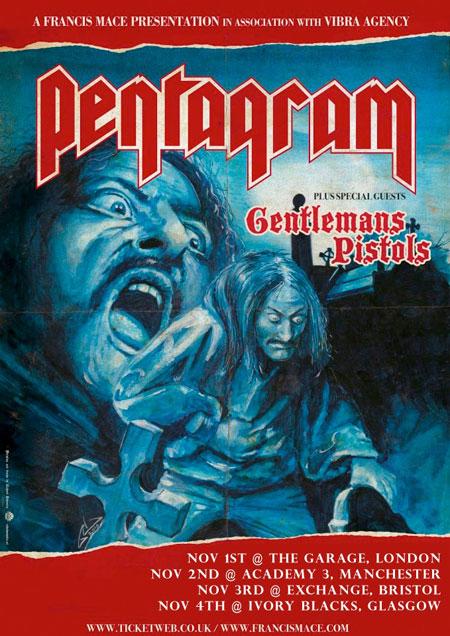 Pentagram - UK Tour 2012 - updated flyer