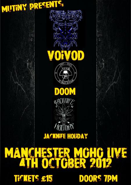 Voivod / Doom / Jacknife Holiday - Manchester