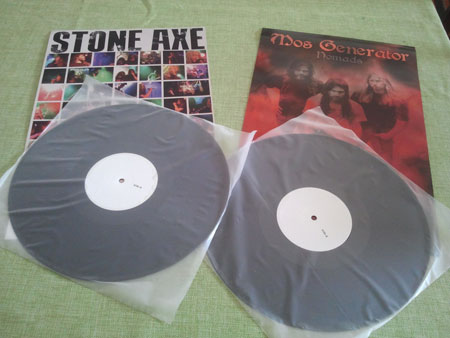 Ripple Music: Stone Axe & Mos Generator Test Pressings