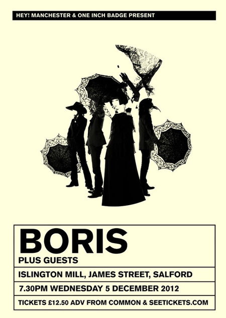 Boris - Islington Mill, Salford 05-12-2012 Flyer