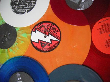 Colour vinyl records