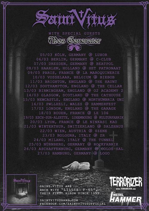 Saint Vitus / Mos Generator - Euro Tour 2013