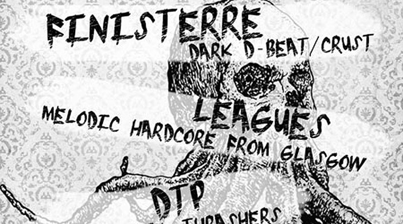 Finisterre / Leagues / D.T.P. @ 13th Note, Glasgow 13/03/2013