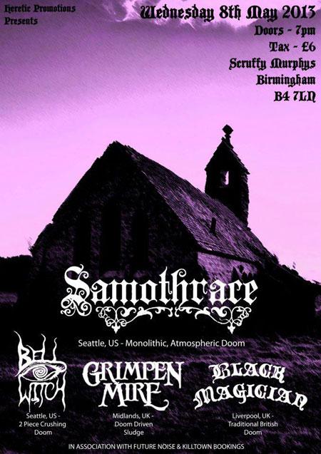 Samothrace / Bell Witch / Grimpen Mire @ Scruffy Murphys, Birmingham 08/05/2013