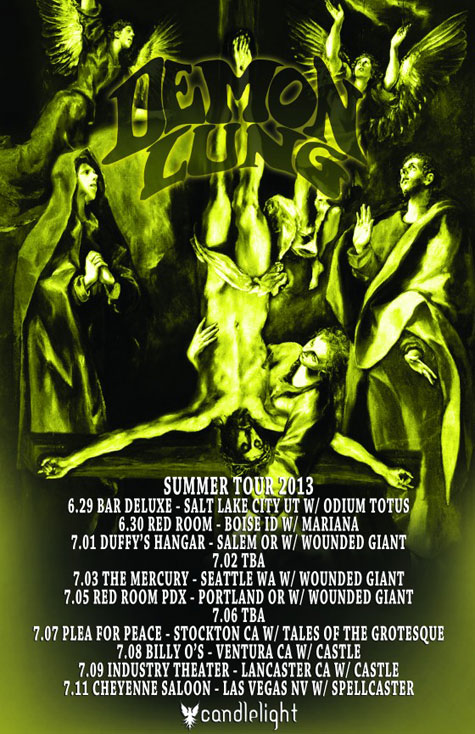 Demon Lung - Summer Tour 2013 Flyer