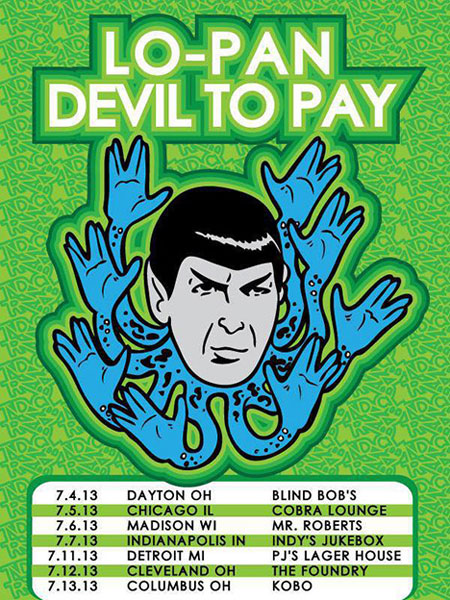 Lo-Pan / Devil To Pay - US Tour 2013 Flyer