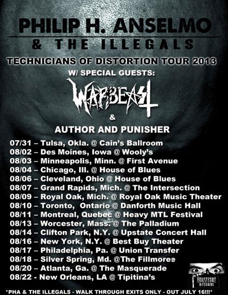 Technicians Of Distortion Tour 2013