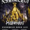 Xibalba / Heirophant - Euro Tour 2013 Poster
