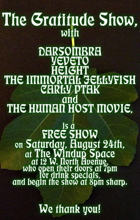 Darsombra - The Gratitude Show - 24th August 2013