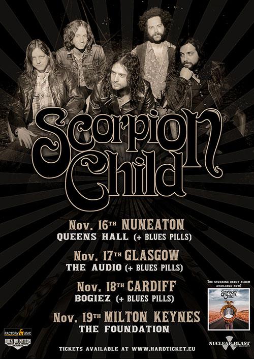 Scorpion Child & Blues Pills UK Tour 2013