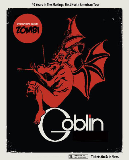 Goblin & Zombi US Tour 2013 Flyer