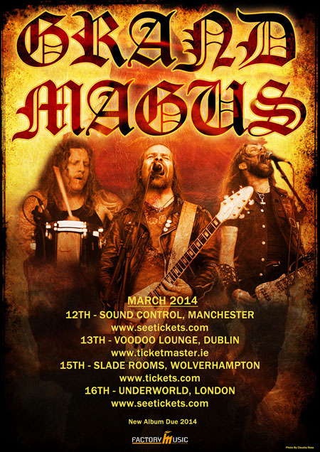 Grand Magus - UK/IRE Tour 2014