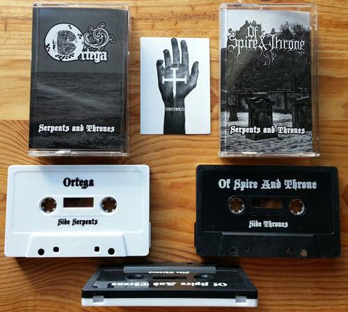 Ortega / Of Spire & Throne 'Serpents And Thrones' Split Cassette