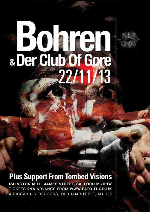Bohren & Der Club Of Gore / Tombed Visions @ Islington Mill, Salford 22/11/2013