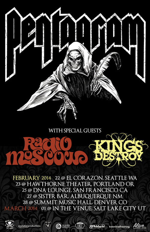 Pentagram - West Coast Tour 2014