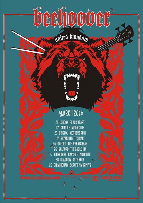 Beehoover - UK Tour 2014
