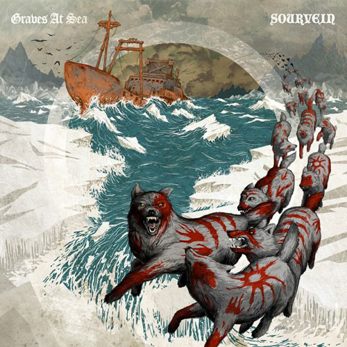 Graves At Sea / Sourvein - Split - Artwork