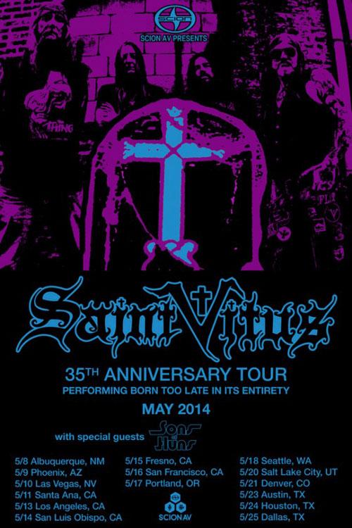 Saint Vitus - 35th Anniversary US Tour May 2014