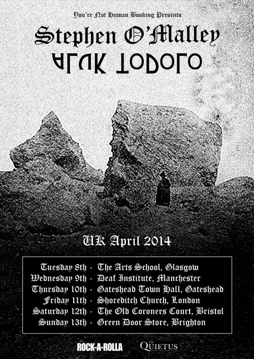 Stephen O'Malley And Aluk Todolo - UK Tour 2014