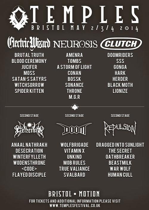 Temples Festival 2014 - Lineup