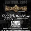 Damnation Festival 2014 w/ Bolt Thrower, Cannibal Corpse, Saint Vitus, Raging Speedhorn