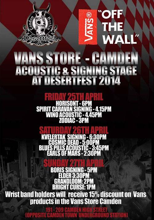 Desertfest London - 2014 Vans Stage