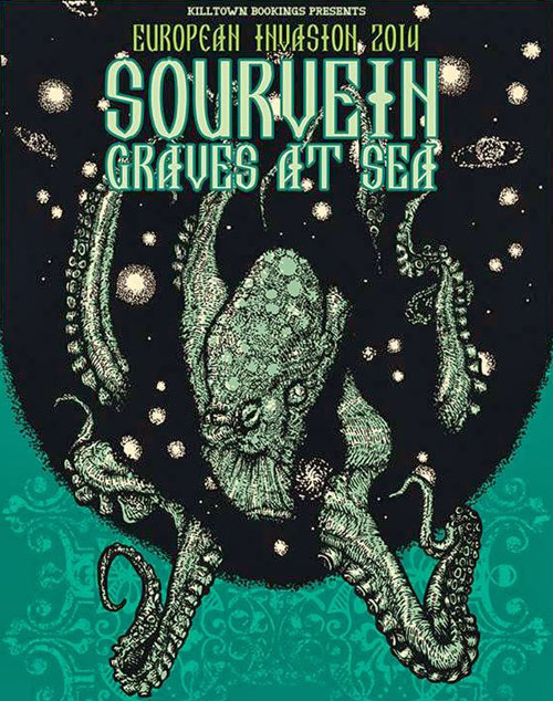 Sourvein / Graves At Sea - Euro Tour 2014