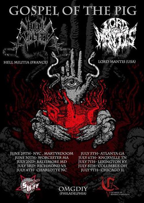 Lord Mantis / Hell Militia - US Tour 2014