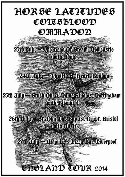 Horse Latitudes / Coltsblood / Ommadon - UK Tour 2014