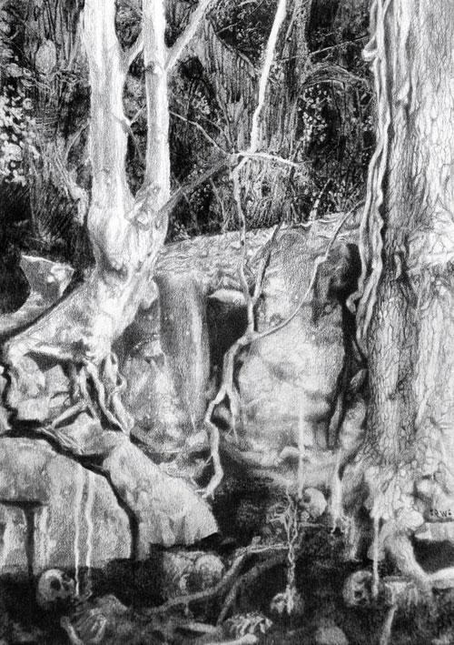 Horse Latitudes / Coltsblood / Ommadon - Split - Artwork