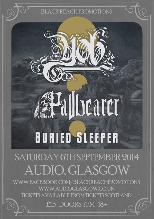 Yob / Pallbearer / Buried Sleeper @ Audio, Glasgow 06/09/2014