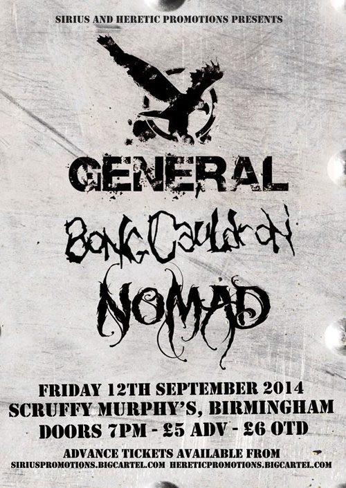 General / BongCauldron / Nomad @ Scruffy Murphy's, Birmingham 12/09/2014