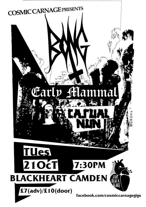 Bong / Early Mammal / Casual Nun @ Windmill, Brixton 21/10/2014