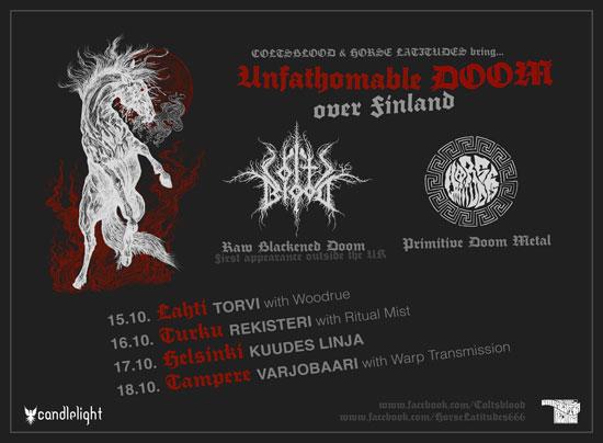 Coltsblood / Horse Latitudes - Unfathomable Doom Over Finland Tour 2014