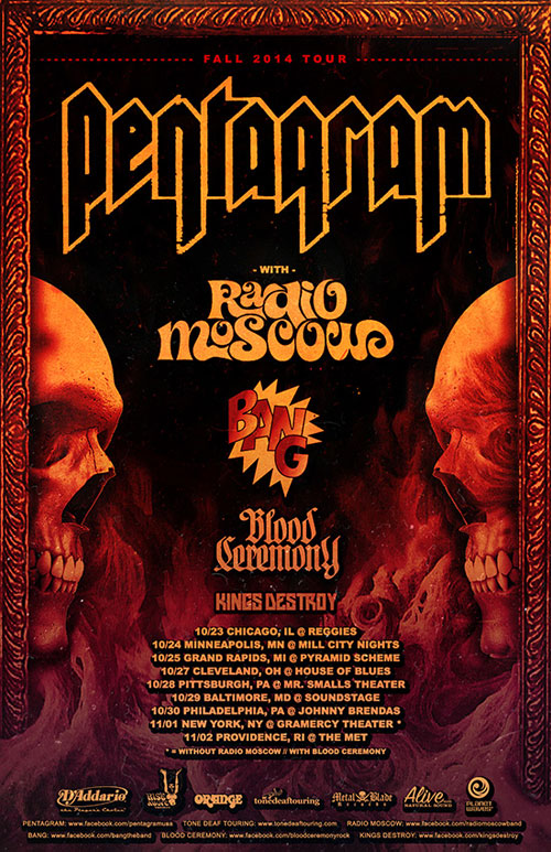 Pentagram - Fall US Tour 2014