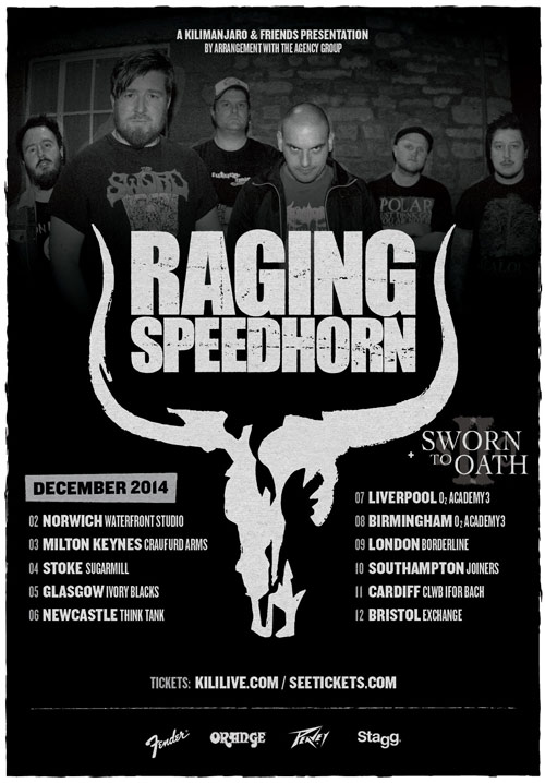Raging Speedhorn - UK Tour 2014