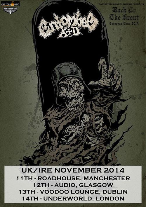 Entombed A.D. - UK/Ire Tour 2014