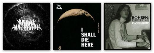 Anaal Nathrakh, The Body, Bohren & Der Club Of Gore Artwork