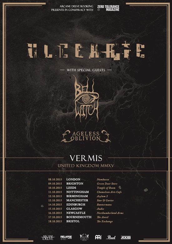 Ulcerate / Bell Witch / Ageless Oblivion - UK Tour 2015