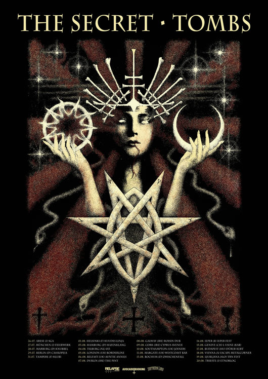 The Secret / Tombs Tour Poster