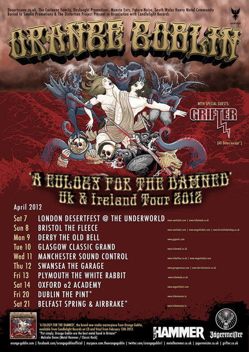 Orange Goblin - Tour 2012