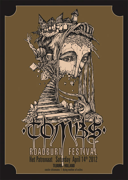 Tombs - Roadburn 2012 Poster by Costin Chioreanu